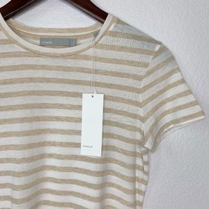 VINCE Striped Crew Neck Short Sleeve Tee NWT